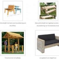 Loungeset en tuinmeubels maken van sloophout.