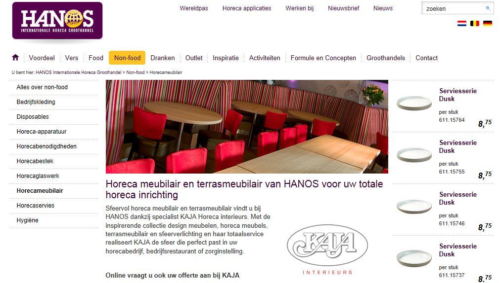 Bij de Hanos hebben ze geen horecameubilair online staan.