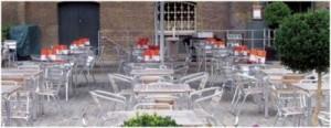Horecameubilair voor op het terras, goedkope terrasstoelen van aluminium.