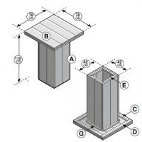 Statafel van steigerhout, deze bouwtekening voor hoge tafels kun je aanpassen om er lagere eettafels mee te maken.