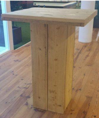 Statafel van steigerhout, bartafel annex pokerbar.