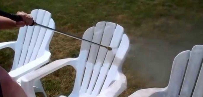 Als je geen bescherm hoezen gebruikt dan worden de terrasstoelen heel vies.
